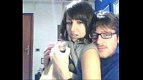 Пара не стесняется вагинального секса перед веб камерой